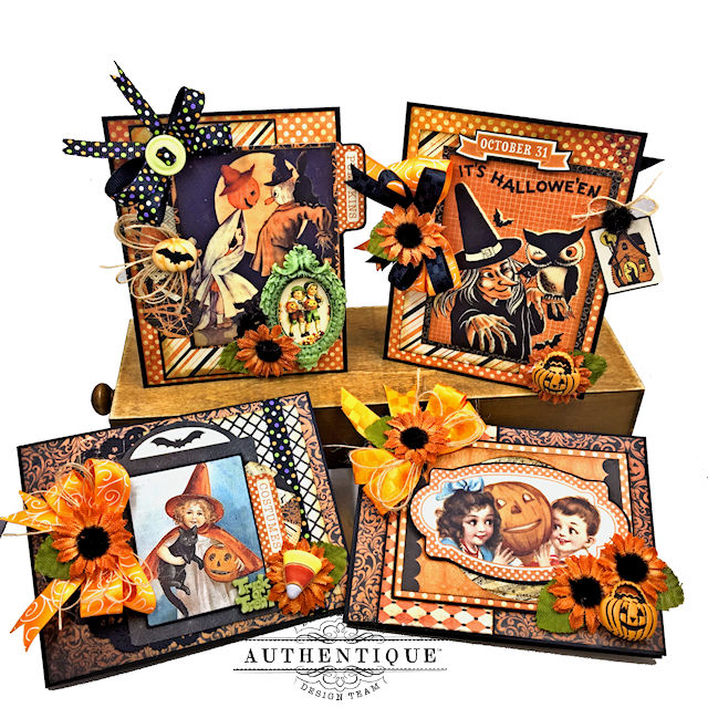 Authentique Nightfall Happy Halloween Gift Card Tutorial by Kathy Clement for Authentique Paper Photo 01