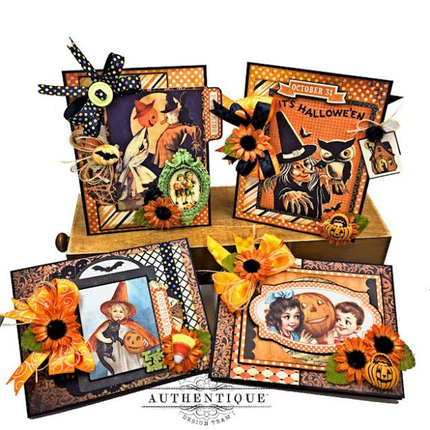 Authentique Nightfall Halloween Gift Card Tutorial by Kathy Clement for Authentique Paper Photo 01