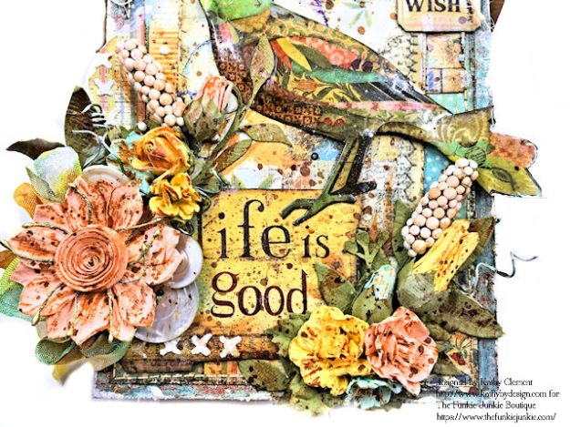 Stamperia Patchwork Life is Good Card Folio by Kathy Clement for The Funkie Junkie Boutique Photo 06