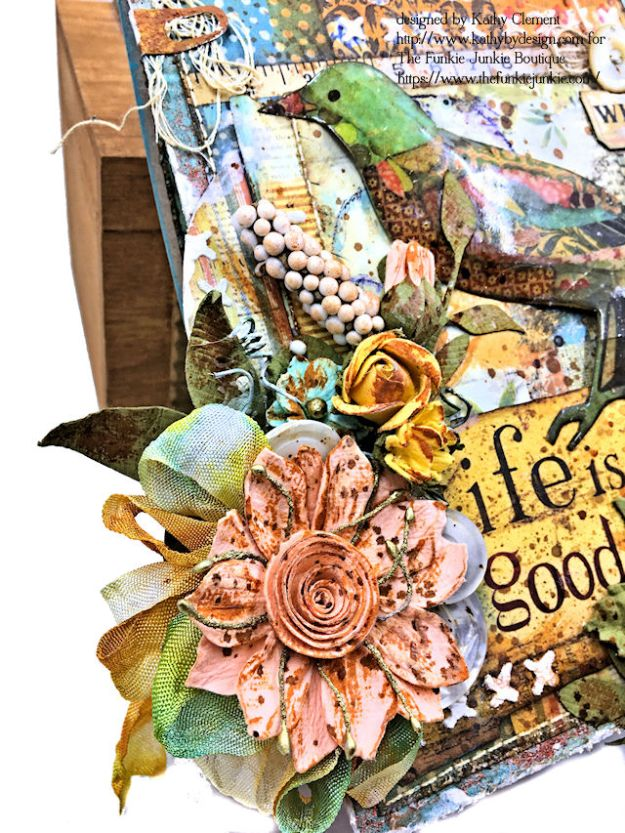 Stamperia Patchwork Life is Good Card Folio by Kathy Clement for The Funkie Junkie Boutique Photo 07
