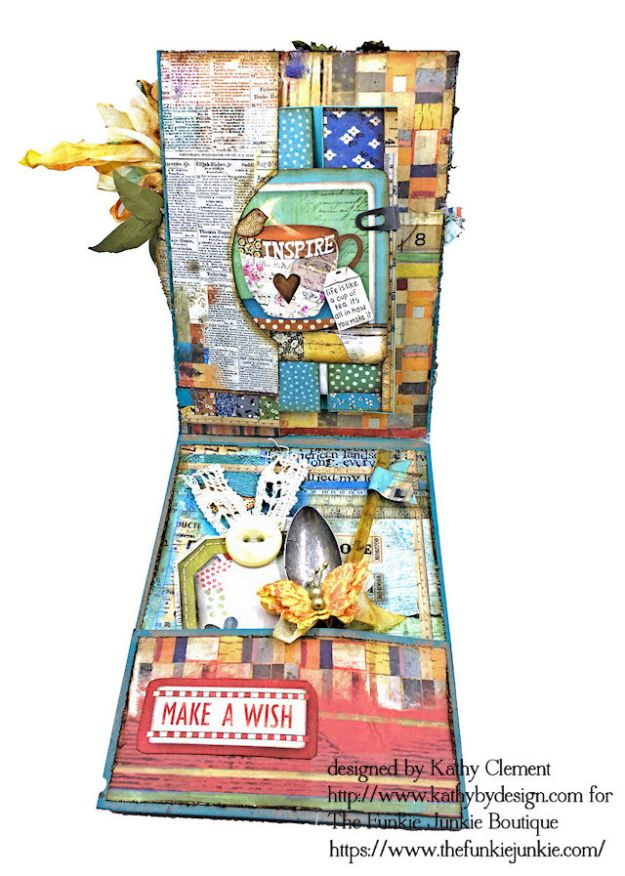 Stamperia Patchwork Life is Good Card Folio by Kathy Clement for The Funkie Junkie Boutique Photo 08