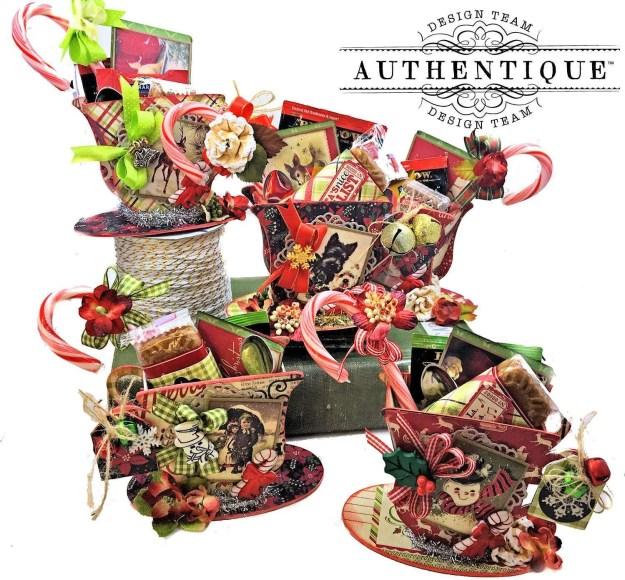 Authentique Nostalgia Christmas Teacups by Kathy Clement Photo 01