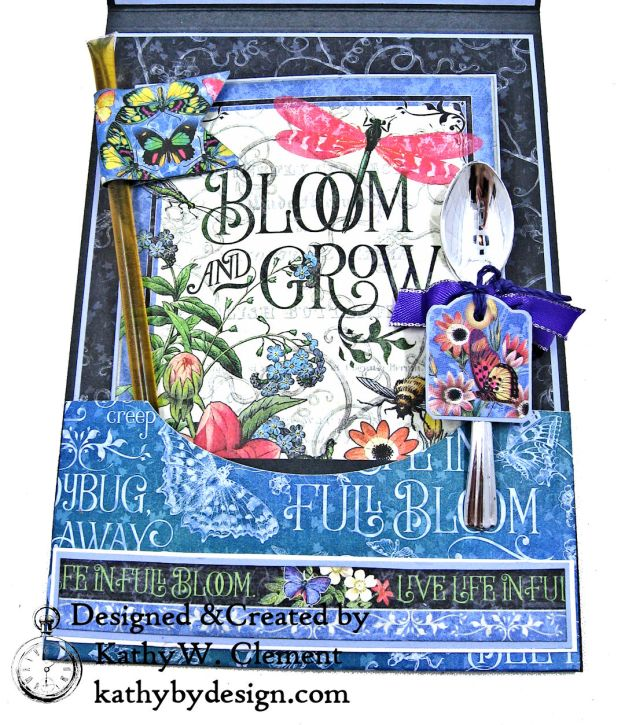 Graphic 45 Flutter Full Bloom Card Folio by Kathy Clement for Really Reasonable Ribbon Photo 07