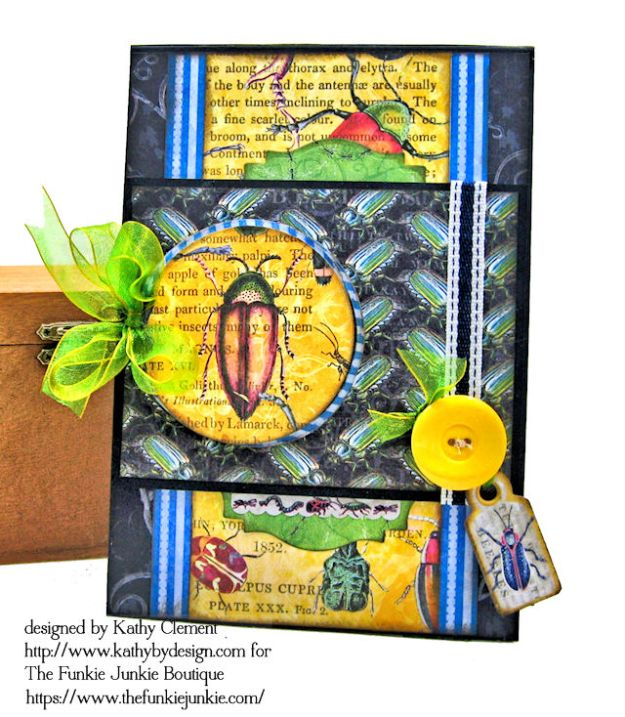 Graphic 45 Flutter Masculine Get Well Card by Kathy Clement for The Funkie Junkie Boutique Photo 01