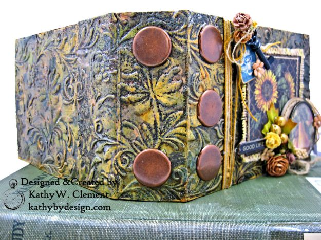 Graphic 45 French Country Gratitude Journal Tutorial by Kathy Clement for The Funkie Junkie Boutique Photo 03