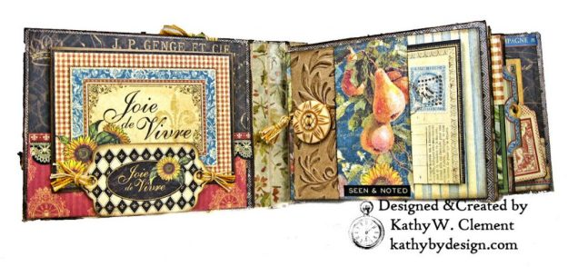 Graphic 45 French Country Gratitude Journal Tutorial by Kathy Clement for The Funkie Junkie Boutique Photo 04