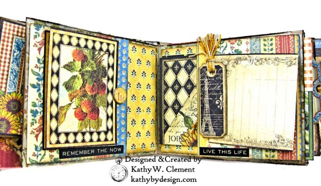 Graphic 45 French Country Gratitude Journal Tutorial by Kathy Clement for The Funkie Junkie Boutique Photo 05