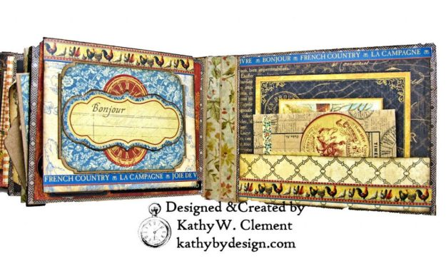 Graphic 45 French Country Gratitude Journal Tutorial by Kathy Clement for The Funkie Junkie Boutique Photo 09