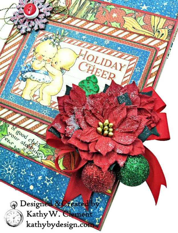 Holiday Cheer Christmas Magic Card Folio by Kathy Clement for Really Reasonable Ribbon Product by Graphic 45 Photo 03