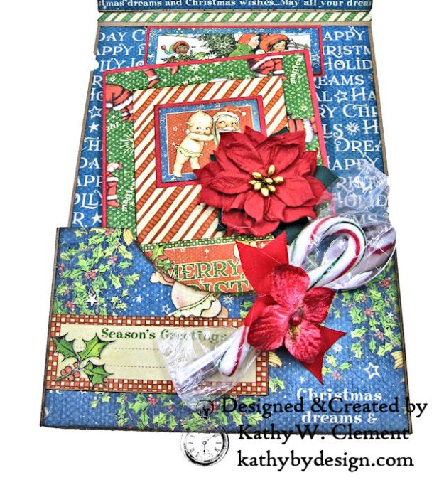 Holiday Cheer Christmas Magic Card Folio by Kathy Clement for Really Reasonable Ribbon Product by Graphic 45 Photo 06