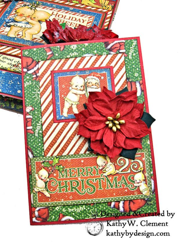Holiday Cheer Christmas Magic Card Folio by Kathy Clement for Really Reasonable Ribbon Product by Graphic 45 Photo 09