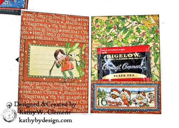Holiday Cheer Christmas Magic Card Folio by Kathy Clement for Really Reasonable Ribbon Product by Graphic 45 Photo 10