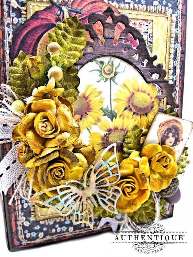 Authentique Pleasant Autumn Trifold Folio Tutorial by Kathy Clement Photo 04