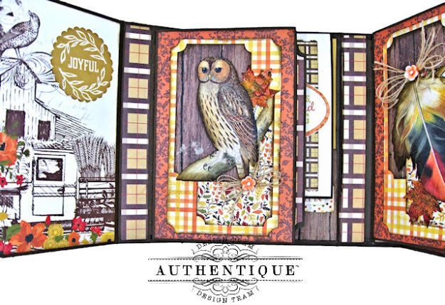 Authentique Pleasant Autumn Trifold Folio Tutorial by Kathy Clement Photo 07