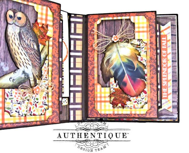 Authentique Pleasant Autumn Trifold Folio Tutorial by Kathy Clement Photo 08