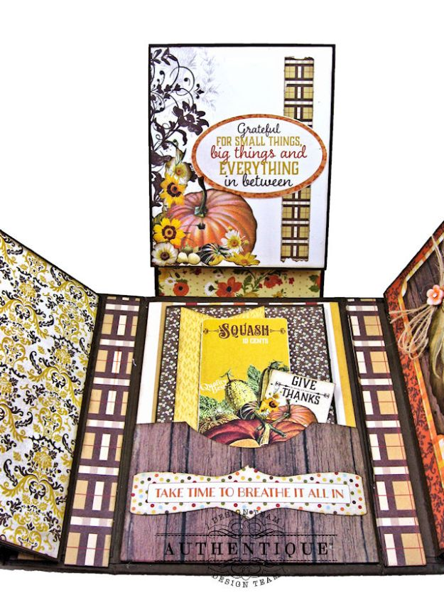 Authentique Pleasant Autumn Trifold Folio Tutorial by Kathy Clement Photo 12