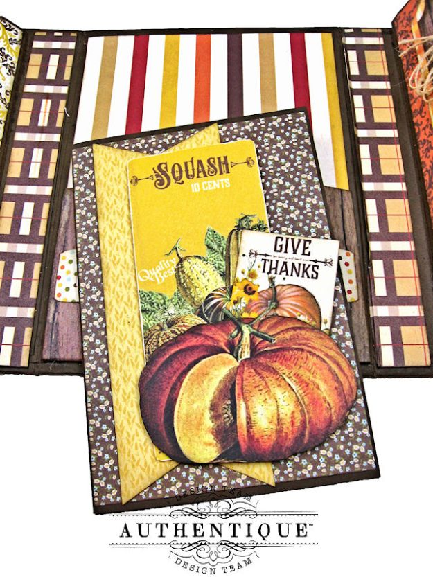 Authentique Pleasant Autumn Trifold Folio Tutorial by Kathy Clement Photo 13