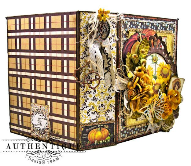 Authentique Pleasant Autumn Trifold Folio Tutorial by Kathy Clement Photo 02