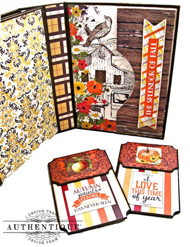 Authentique Pleasant Autumn Trifold Folio Tutorial by Kathy Clement Photo 10