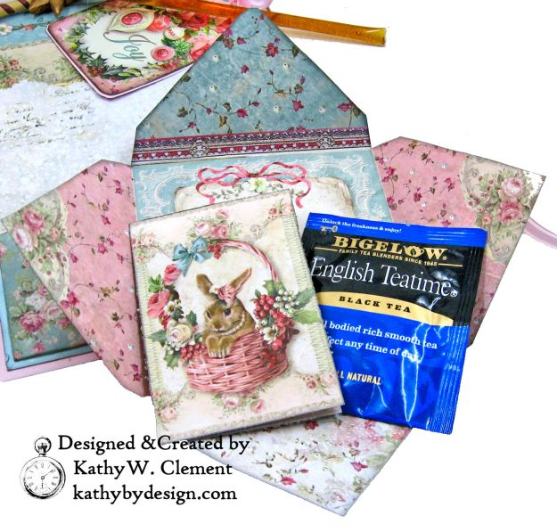 Stamperia Pink Christmas Card Folio by Kathy Clement for Really Reasonable Ribbon Photo 10