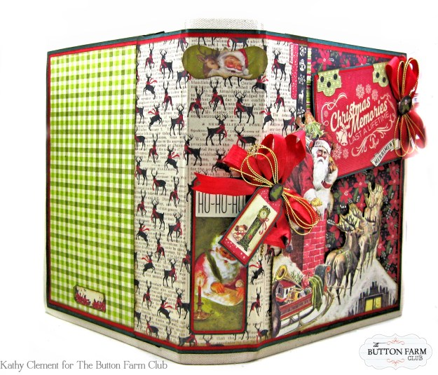 Authentique Nostalgia Christmas Memories Mini Album Kit for the Button Farm Club by Kathy Clement Photo 03