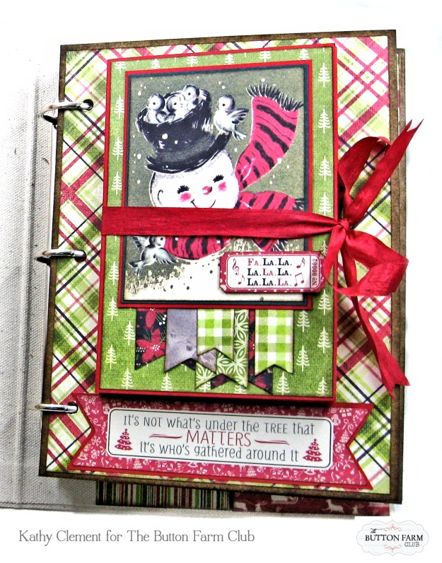 Authentique Nostalgia Christmas Memories Mini Album Kit for the Button Farm Club by Kathy Clement Photo 04
