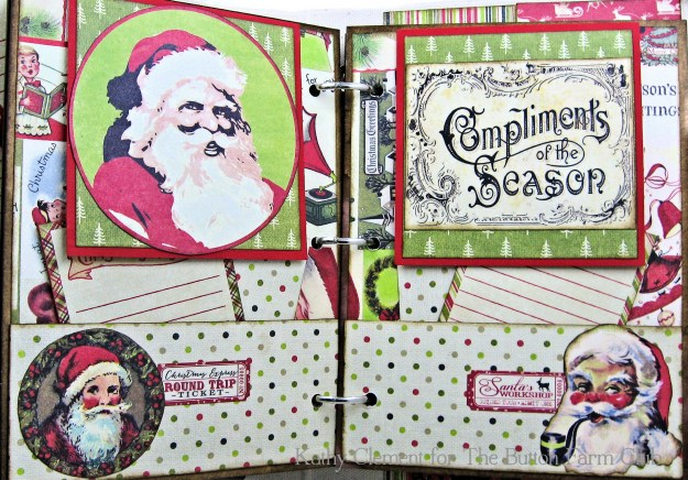 Authentique Nostalgia Christmas Memories Mini Album Kit for the Button Farm Club by Kathy Clement Photo 06