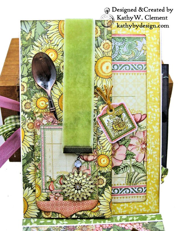 Blooming Beautiful Graphic 45 Garden Goddess Shaker Card by Kathy Clement for Really Reasonable Ribbon Photo  03