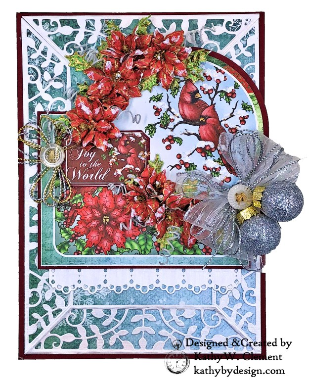 Heartfelt Creations Festive Holly Christmas Card Folio by Kathy Clement Photo 01