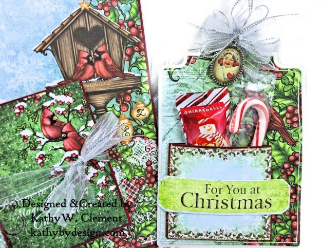 Heartfelt Creations Festive Holly Christmas Card Folio by Kathy Clement Photo 07