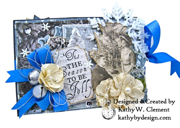 Winter Blues Christmas Folio Kaisercraft Frosted by Kathy Clement for Really Reasonable Ribbon Photo 01