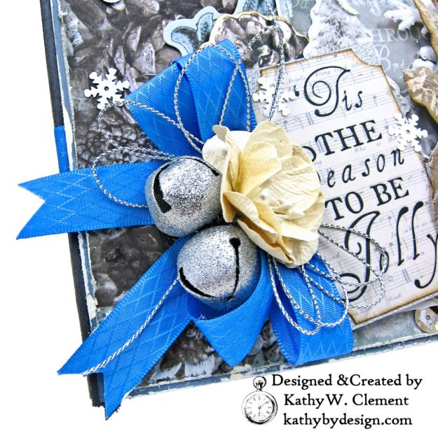Winter Blues Christmas Folio Kaisercraft Frosted by Kathy Clement for Really Reasonable Ribbon Photo 03