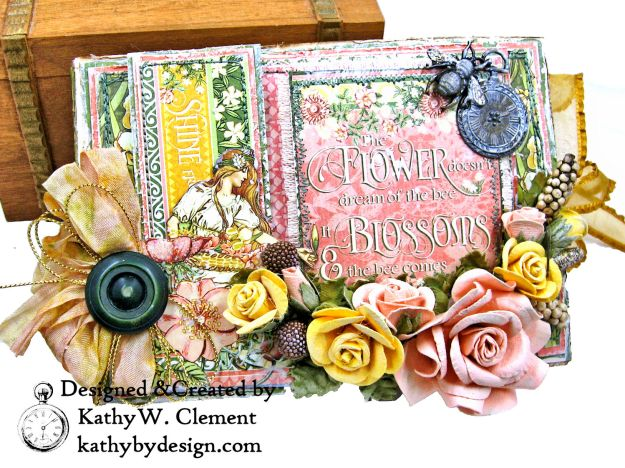 Glorious Graphic 45 Garden Goddess Shine Card Folio by Kathy Clement for The Funkie Junkie Boutique Photo 01