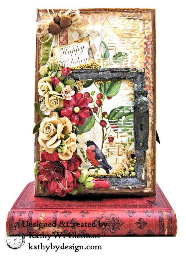 Stamperia Winter Botanic Christmas Box by Kathy Clement for The Funkie Junkie Boutique Photo 01