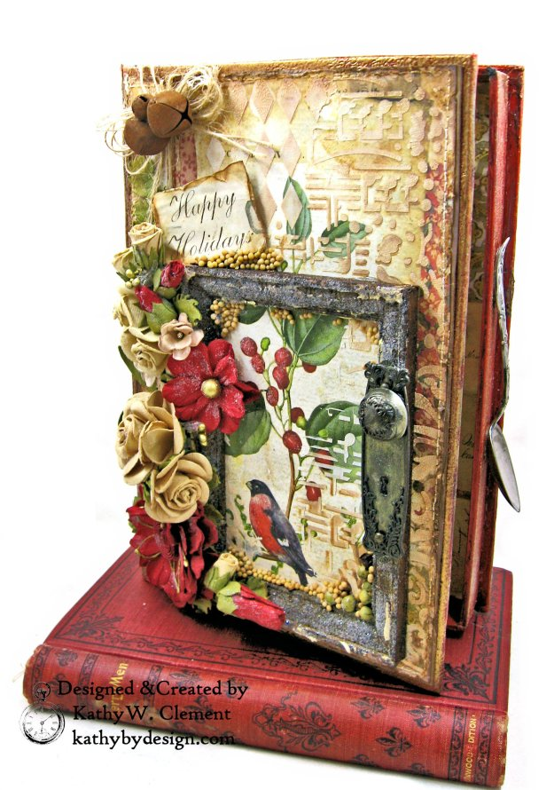 Stamperia Winter Botanic Christmas Box by Kathy Clement for The Funkie Junkie Boutique Photo 04