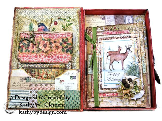 Stamperia Winter Botanic Christmas Box by Kathy Clement for The Funkie Junkie Boutique Photo 08