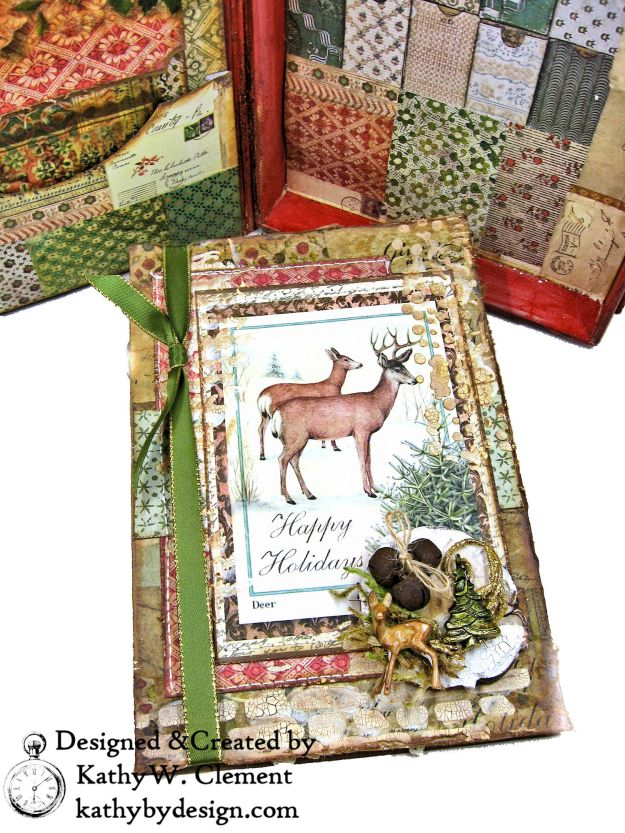Stamperia Winter Botanic Christmas Box by Kathy Clement for The Funkie Junkie Boutique Photo 09
