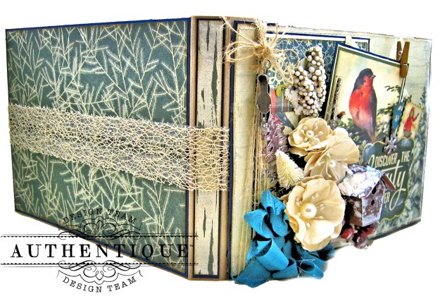 Authentique Solitude Waterfall Folio Tutorial by Kathy Clement Photo 06