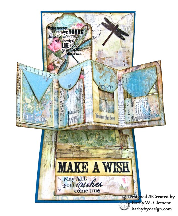 Stamperia Wonderland Twist and Pop Card Tutorial Kathy Clement Kathy by Design Photo 04