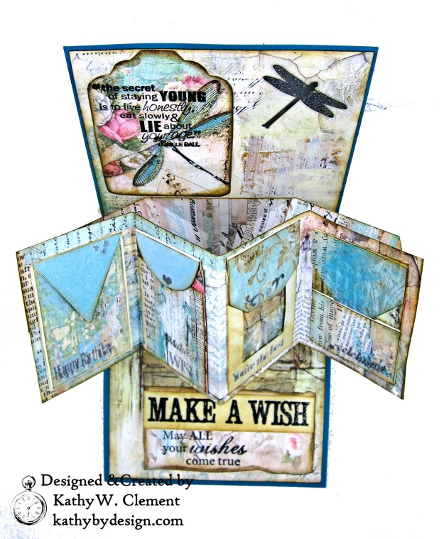 Stamperia Wonderland Twist and Pop Card Tutorial Kathy Clement Kathy by Design Photo 05