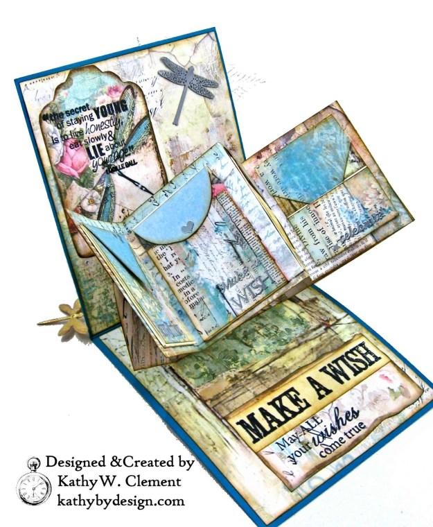 Stamperia Wonderland Twist and Pop Card Tutorial Kathy Clement Kathy by Design Photo 06