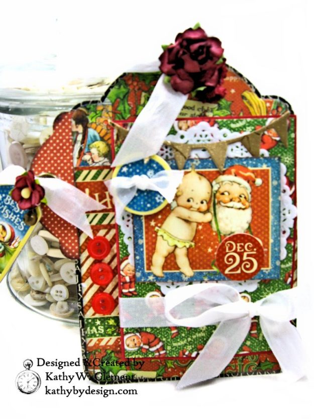 #G45Tags Graphic 45 Christmas Magic Gift Card Tags Tutorial by Kathy Clement Kathy by Design Photo 01