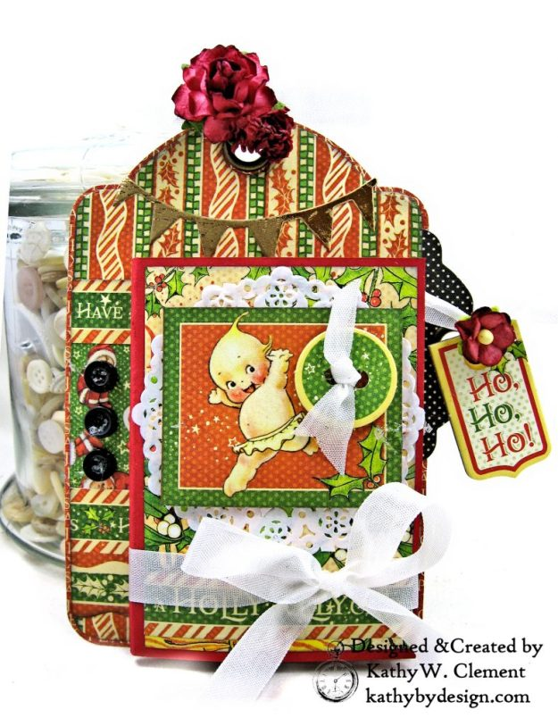 #G45Tags Graphic 45 Christmas Magic Gift Card Tags Tutorial by Kathy Clement Kathy by Design Photo 05
