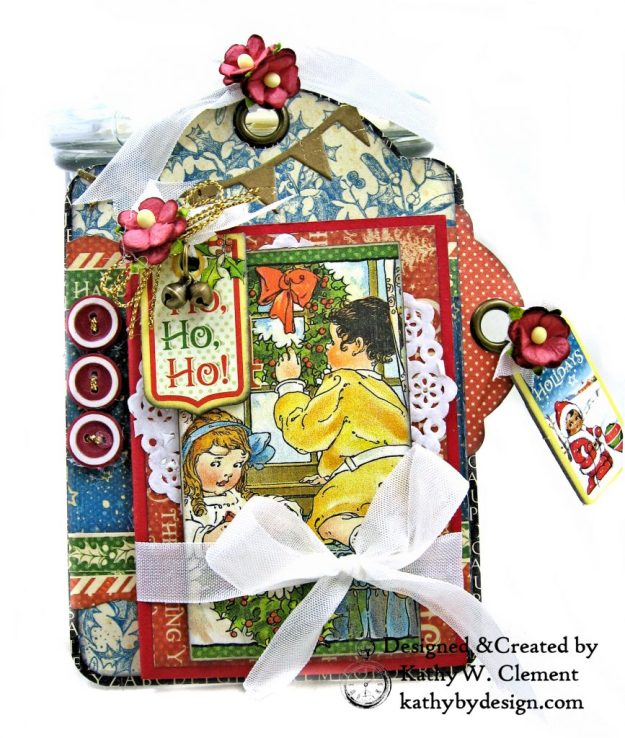 #G45Tags Graphic 45 Christmas Magic Gift Card Tags Tutorial by Kathy Clement Kathy by Design Photo 03