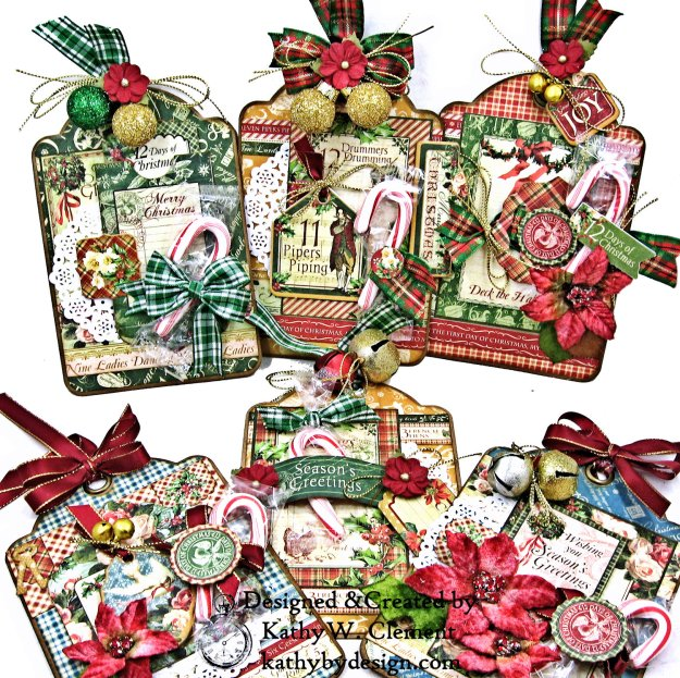 Graphic 45 Twelve Days of Christmas Treat Tags by Kathy Clement Photo 01