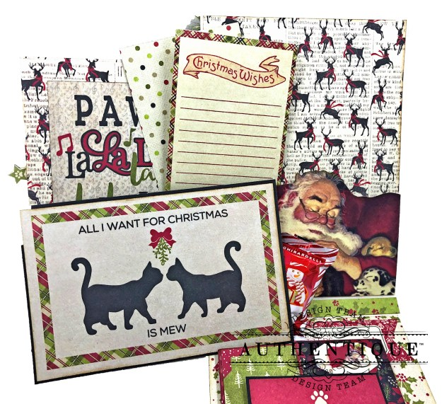 Authentique Nostalgia Meowy Christmas Card Folio by Kathy Clement for Really Reasonable Ribbon Photo 04