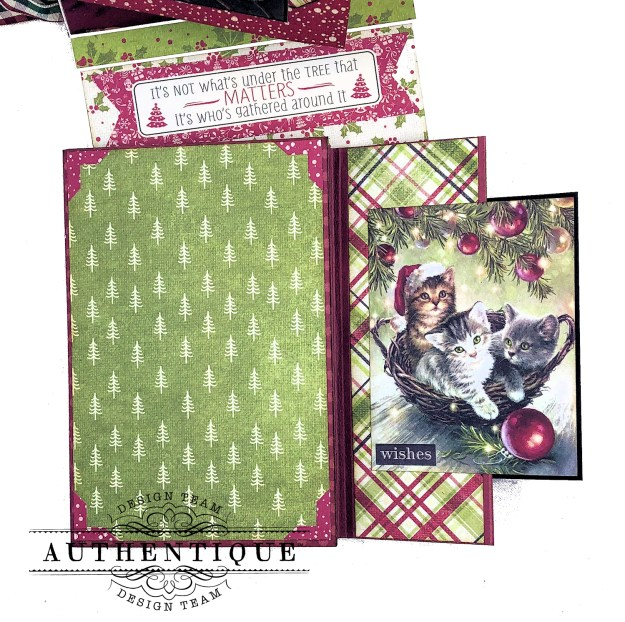 Authentique Nostalgia Meowy Christmas Card Folio by Kathy Clement for Really Reasonable Ribbon Photo 07