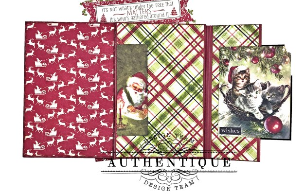 Authentique Nostalgia Meowy Christmas Card Folio by Kathy Clement for Really Reasonable Ribbon Photo 09