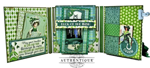 Authentique Clover Folio Tutorial by kathy Clement