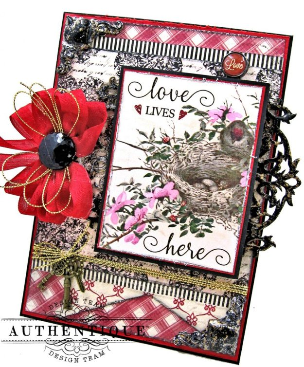 Authentique Romance Love Lives Here Valentine Card Folio by Kathy Clement Kathy by Design Photo 01